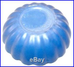 Vintage Catalina Island Pottery Blue Bowl 2.5 H x 7.5 R