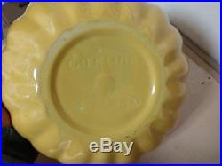 Vintage Catalina Island Pottery Large Yellow Bowl Bottom Marked No Damage