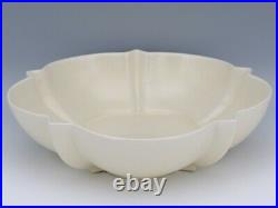 Vintage Catalina Island Pottery Matte Ivory 710 Flower Bowl & Stacked Star Frog