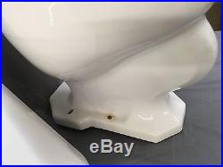 Vintage Ceramic White Kohler Complete Toilet Wall Mount Tank Lid Bowl 573-17E