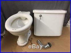 Vintage Ceramic White Kohler Complete Toilet Wall Mount Tank Lid Bowl 642-17E