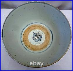 Vintage Chinese Pottery Ming Dynasty Glaze Blue & White Bowls Rare Collectibles