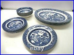 Vintage Churchill England Willow Dinner set side plate/bowl/ Dinner plate joblot