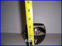 Vintage Corn Moquino Santa Clara Pottery Sgraffito Avanyu Bowl 3 1/4 x 3 1/4
