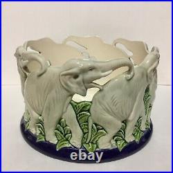 Vintage Czech Pottery Eichwald Elephants bowl 1920s