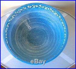 Vintage DORCHESTER POTTERY 12 PUNCH BOWL N. Ricci fecit CAH Stoneware Pedestal