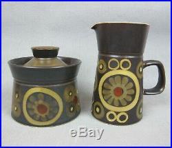 Vintage Denby studio pottery Arabasque Dinner Service / Set. Plates cups bowls