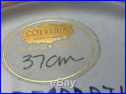 Vintage Deruta Italy Majolica Pottery Ceramic Portrait Plate, 14 1/8 Dia x 2 H