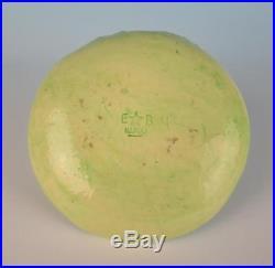Vintage EB NAPOLI Lettuce Ware Bird Tray Bowl Italian Art Pottery Cabbage Italy