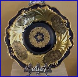 Vintage Echt Weimar 13 Shallow Round Bolw Jutta Cobalt. Excellent condition