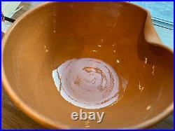 Vintage Elsa Peretti for TIFFANY Terracotta Thumbprint Bowl 10Medium Italy READ