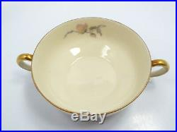 Vintage Epiag Pastelle 8 Cream Soup Bowls & Saucers & 10 Bread Plates