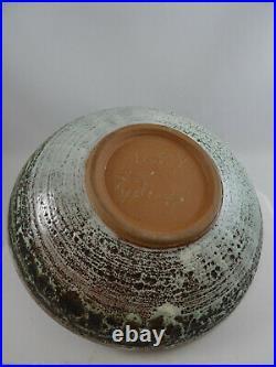 Vintage Fabulous Tessa Kidick Pottery Large Bowl Canadian Art Pottery