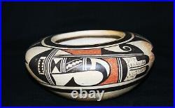 Vintage Fannie Nampeyo Hopi Pueblo Traditional Polychrome Pottery Pottery Bowl