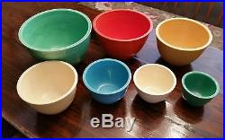 Vintage Fiesta Fiestaware Pottery Primary Colors Graduated Mixing ...