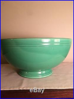 Vintage Fiesta Light Green Footed Salad Bowl