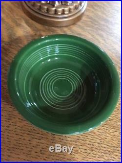 Vintage Fiesta Ware 4 3/4 inch Medium Green Fruit Bowl