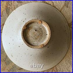 Vintage Fong Chow HUGE Crane Bowl Studio Art Pottery RARE Pre Post Glidden