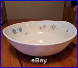 Vintage Franciscan Atomic Starburst LARGE Salad Serving Bowl 12 Rare HTF