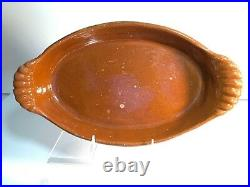 Vintage French Pottery Baking Dish Normandy