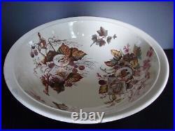 Vintage Furnivals Pottery Wash Bowl and Pitcher Set