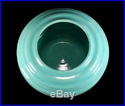 Vintage Garden City Handthrown Ringed Ring Rose Bowl Vase California Art Pottery