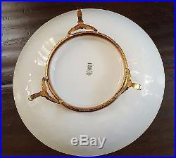 Vintage German Bavaria Schumann Arzberg Ormolu Gilt Footed Dish Bowl