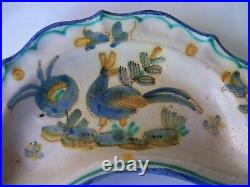 Vintage Guido Gambone Vietri donkey mark MCM pottery kidney crescent dish Italy