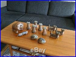 Vintage Gustavsberg Lisa Larson Lilla Zoo Cat & Granada Tray / Bowl MCM