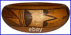 Vintage HOPI Pueblo Pottery BOWL Polychrome Native American 2 T x 5.5 W