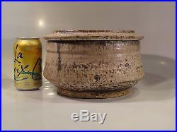 Vintage HUGE McCarty Pottery Merigold Miss MS Water Bottom Lidded Vessel Bowl
