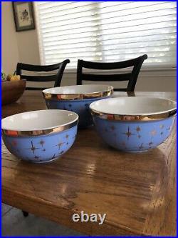 Vintage Hall Pottery Star Cadet Mixing Bowl Set