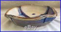 Vintage Hand Thrown Studio Art Pottery Baking Dish Signed Walt Glass