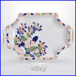 Vintage Hand-painted French Faience Platter/shallow Bowl For Tiffany & Co