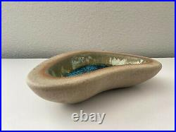 Vintage Harding Black Amoeba Bowl 1953 Texas Studio Pottery