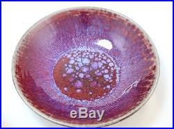 Vintage Harding Black Pottery 1959 10 Royal Purple Bowl