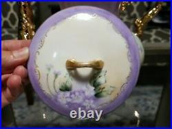 Vintage Hc Royal Bavaria Sugar Bowl, Creamer, Mentioned Tea Pot