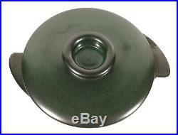 Vintage Heath California Pottery Green Lidded Serving Bowl Winged Casserole Dish