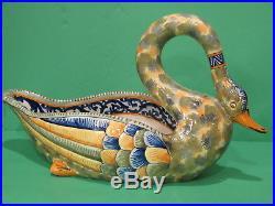 Vintage Henriot Quimper Large Swan Console Bowl 159