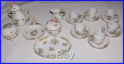 Vintage Herend Queen Victoria Tea Cup Service 21 Pc Teapot Bowl Rothschild RARE