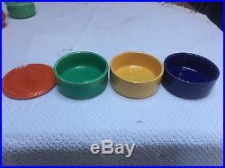 Vintage Homer Laughlin Kitchen Kraft Refrigerator Bowls Four Colors