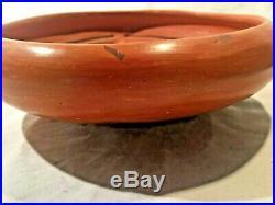 Vintage Hopi Black on Redware Pottery Bowl 9.5 x 3