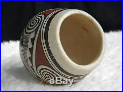 Vintage Hopi Helen Naha Featherwoman Polychrome Bowl