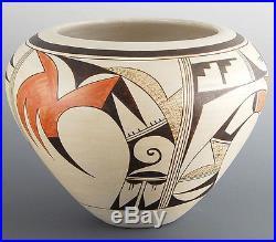 Vintage Hopi Paquime Birds LRG Pottery Vase Bowl FROGWOMAN Joy Navasie (d) c60s