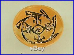 Vintage Hopi Pottery Bowl Native American Indian 6.5 X 2.5