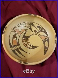 Vintage Hopi Pottery Bowl by Marjorie Tewayguna