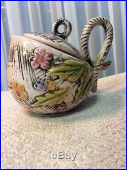 Vintage Hull Blossom 4pcs Tea Set and Gondola Bowl 1955