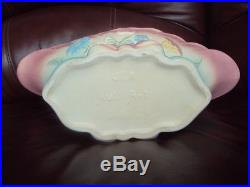 Vintage Hull Bowknot Console Bowl B-16-13 1/2 with Candle Holders. Excellent