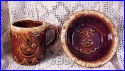 Vintage Hull Ginger Bread Child's Mug & Bowl Rare