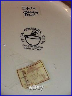 Vintage ITALY Large 16 Tuscan Vila Serving Dish Pasta Bowl Ceramica Hand Decor
